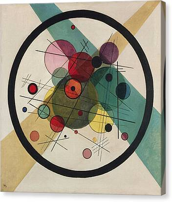 Circles In A Circle Canvas Print by Wassily Kandinsky