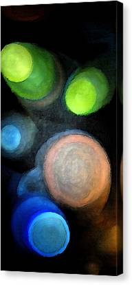 Canvas Print featuring the digital art Circles Of Light by Saad Hasnain
