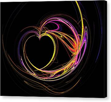 Circles Of Love Canvas Print