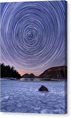 Circles Over Bubbles Canvas Print by Michael Blanchette