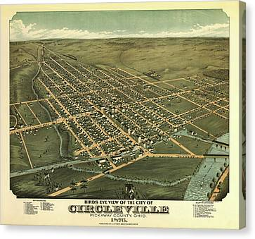 Circleville Ohio 1876 Canvas Print by Mountain Dreams