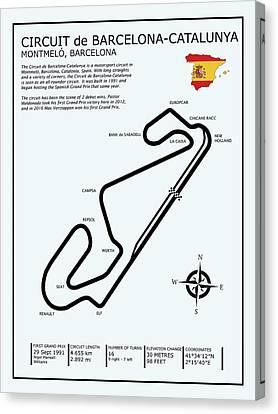 Circuit De Barcelona Catalunya Canvas Print