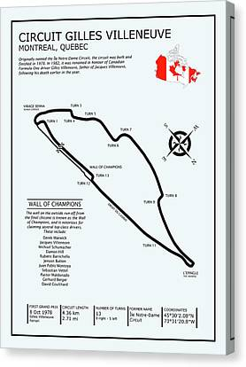 Circuit Gilles Villeneuve Canvas Print