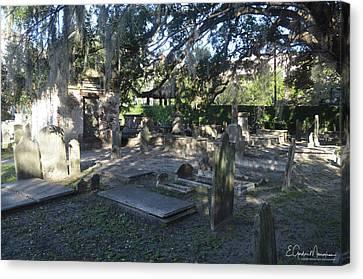 Circular Congregational Graveyard 1 Canvas Print