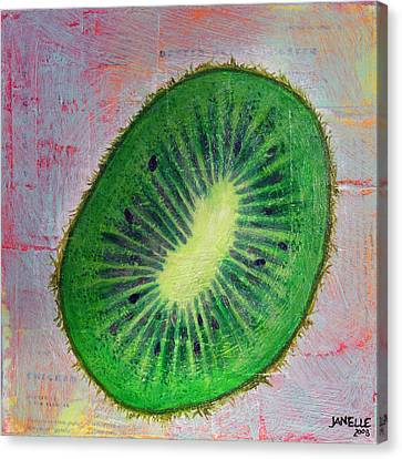 Circular Food - Kiwi Canvas Print