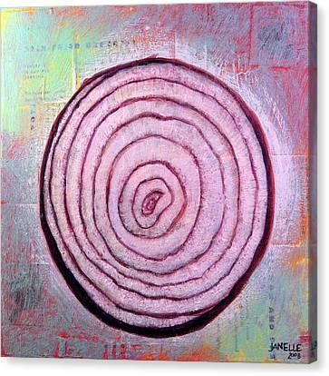Circular Food - Onion Canvas Print