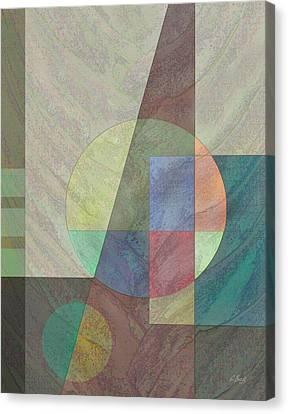 Circular Canvas Print by Gordon Beck