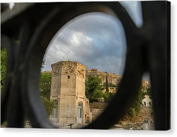 Circular Window To The Past 2 Canvas Print by Iordanis Pallikaras