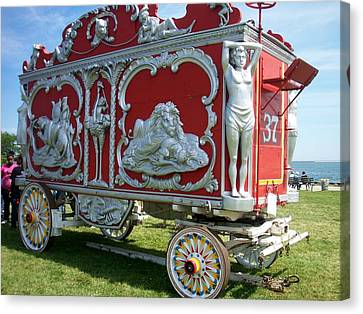 Circus Car In Red And Silver Canvas Print by Anita Burgermeister