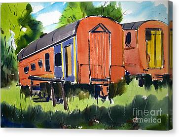 Circus Days Train Diners Canvas Print
