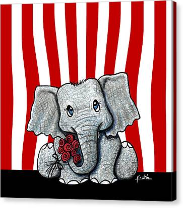 Circus Elephant Canvas Print by Kim Niles