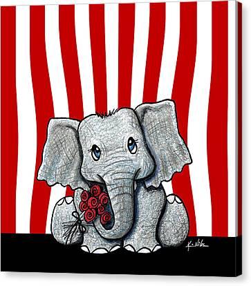 Whimsy Canvas Print - Circus Elephant by Kim Niles