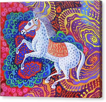 Bold Colors Canvas Print - Circus Horse by Jane Tattersfield