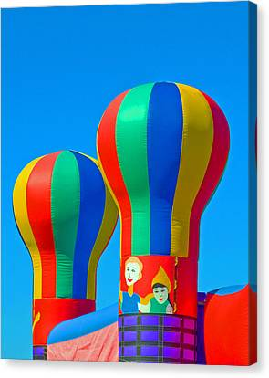 Circus In The Sky - Three Canvas Print by Allan  Hughes