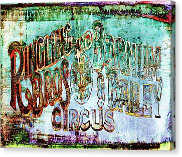 Circus Sign Canvas Print by Skip Nall