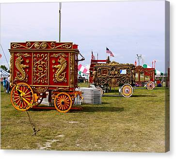 Milwaukee Parade Canvas Print - Circus Wagons by Steve Bell
