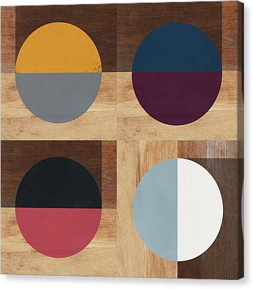 Modern Canvas Print - Cirkel Quad- Art By Linda Woods by Linda Woods