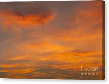 Cirrus Clouds At Sunset Canvas Print by Jim Corwin