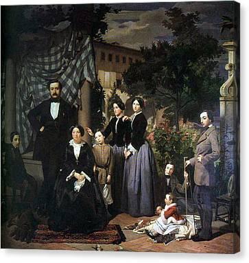 Ciseri Antonio La Famiglia Bianchini 1853 5 Canvas Print