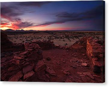 Citadel Sunset Canvas Print by Mike  Dawson