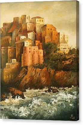 Cinque Terre Lerici Italia Painting Canvas Print