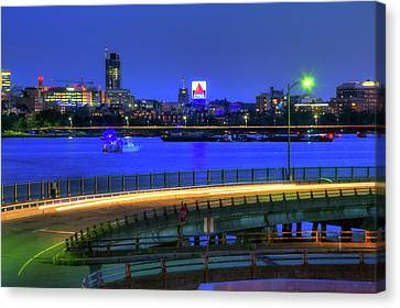 Canvas Print featuring the photograph Citgo Sign Across The Charles River - Boston by Joann Vitali