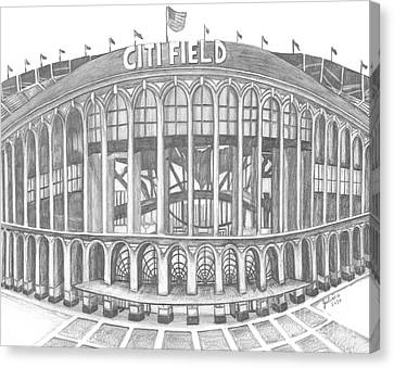New York Mets Stadium Canvas Print - Citi Field by Juliana Dube