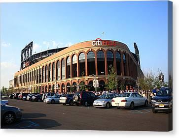 Citi Field - New York Mets 13 Canvas Print by Frank Romeo