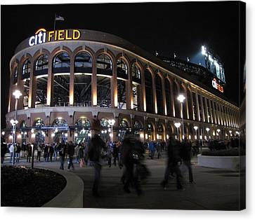 Citi Field Opening Night 2009 Canvas Print by Peter Aiello