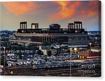 Citi Field Sunset Canvas Print by Nishanth Gopinathan