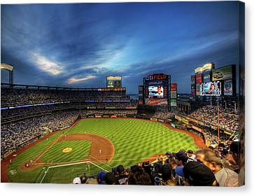 Baseball Fields Canvas Print - Citi Field Twilight by Shawn Everhart