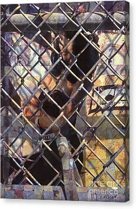cities ghetto girl photography - Mona Lisa Canvas Print by Sharon Hudson