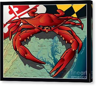 Citizen Canvas Print - Citizen Crab Of Maryland by Joe Barsin
