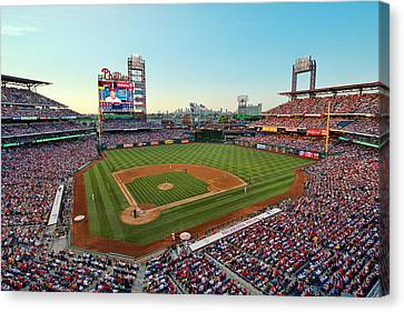 Citizens Bank Park - Philadelphia Phillies Canvas Print by Mark Whitt