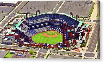 Citizens Bank Park Canvas Print - Citizens Bank Park Phillies by Duncan Pearson