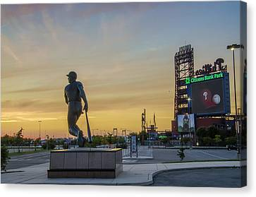 Citizens Bank Park Sunrise Canvas Print by Bill Cannon