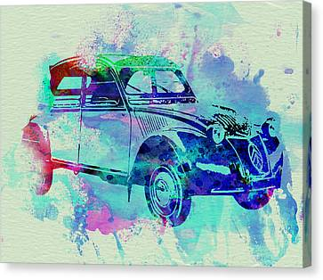 Citroen 2cv Canvas Print by Naxart Studio