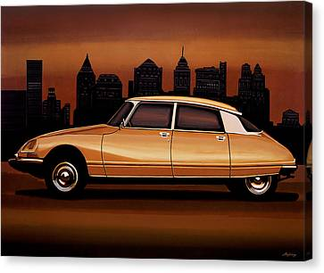 Citroen Ds 1955 Painting Canvas Print