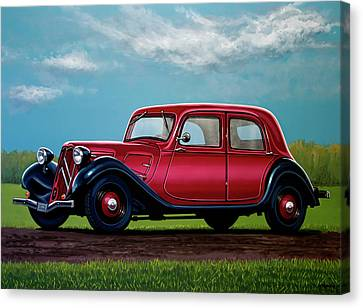 Citroen Traction Avant 1934 Painting Canvas Print