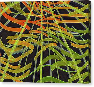 Citrus Colors Abstract Canvas Print by Claudia O'Brien