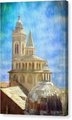 Citta Alta From Above Canvas Print by Jeffrey Kolker