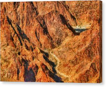 City - Arizona - Grand Canyon - A Look Into The Abyss Canvas Print by Mike Savad