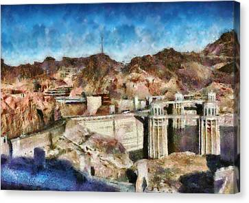 City - Nevada - Hoover Dam Canvas Print by Mike Savad
