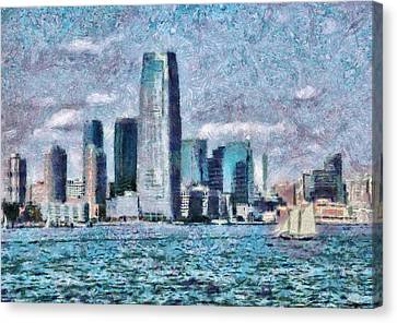 City - Ny - City Of The Future Canvas Print by Mike Savad