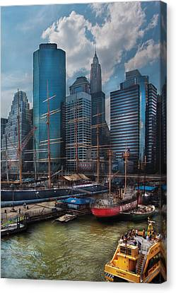 City - Ny - The New City Canvas Print by Mike Savad