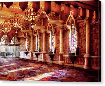 City - Vegas - Excalibur - In The Great Hall  Canvas Print by Mike Savad