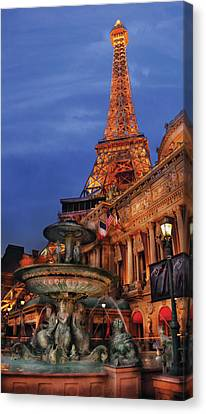 City - Vegas - Paris - Academie Nationale - Panorama Canvas Print by Mike Savad
