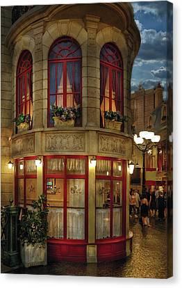 City - Vegas - Paris - Le Cafe Canvas Print by Mike Savad