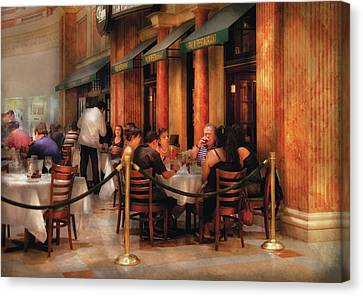 City - Venetian - Dining At The Palazzo Canvas Print by Mike Savad