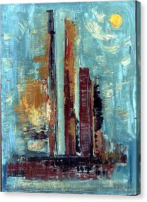 City Abstraction Canvas Print by Anand Swaroop Manchiraju
